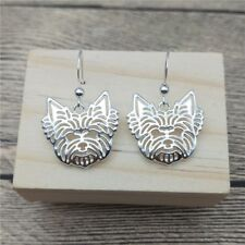 Yorkie Dog Earrings Silver ANIMAL RESCUE DONATION