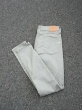 PLEASE Stone Gray Flat Zip Front Solid P78 Skinny Crop Jeans NWT Sz S CC9124