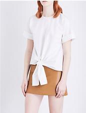 Warehouse Tie Front Cotton Top White Size UK 6 rrp £29 DH084 JJ 04