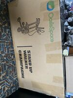 OasisSpace Light Weight Stand Up Walker For Seniors, Silver New In Sealed Box