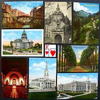 Antique World Post Card Set! 8 Gems, No Stamps Or Writing: Mr. G's Postal Lot 70