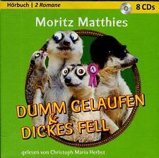 Hörbuch Moritz Matthies: Dumm gelaufen & Dickes Fell – 8 AudioCDs Laufzeit 608mi