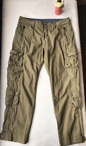 Athleta Pack And Go Cargo Pants Olive 819657 Sz 6P Petite Hiking Lightweight