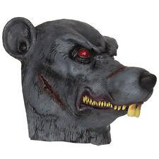 Adulto Zombie Rat Máscara Animal Cabeza Completa Látex Halloween Disfraz NUEVO
