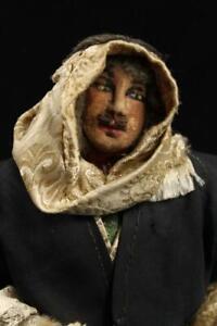 "Rare Baronne Sandra Belling Syrian Bedouin Tribes Tribesman Doll Cloth 1930s 10"""