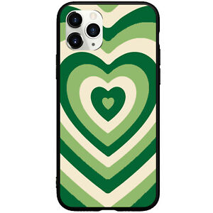 Matcha Latte Coffee Green Pink LOVE Phone Case For iphone 11 12 Pro Max XR 6 7 8