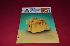 Allis Chalmers 685I 265HP Diesel Engine Dealer's Brochure YABE15