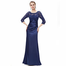 Lace Patternless 3/4 Sleeve Regular Size Dresses for Women