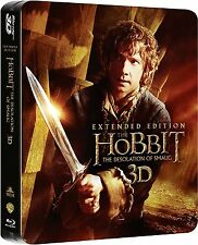 The Hobbit: Desolation Of Smaug- Extended Edition Steelbook: New True 3D Blu-Ray