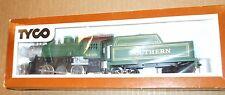 Vintage Tyco HO scale train Southern 0-6-0 locomotive steam engine & tender