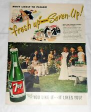 1947 7-UP Soda Advertisement - Page from June 9, 1947 Life Magazine