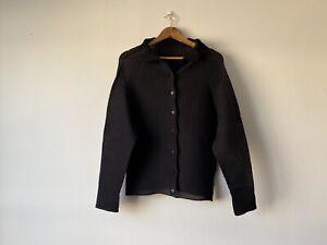 ISSEY MIYAKE me Pleats Sheer Shirt (M) Obsidian Navy Rare Vintage Medium