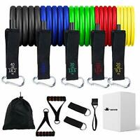 BAISIQI Resistance Bands Set 11 in 1 Exercise Bands, Up to 150 Lbs Fitness