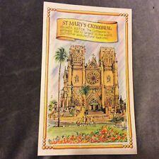 Vintage Postcard - St Marys Cathedral - Sydney - Unused