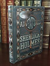 THE ADVENTURES OF SHERLOCK HOLMES by A C DOYLE Illustrated, Leather & BRAND NEW!