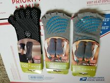 Gaiam 3-pairs Of Yoga Socks Toeless Grip Namaste Om Rodney Yee Bhakti Iyengar