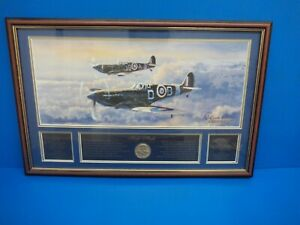 Authentic Signature Edition 75th Anniversary Spitfire Print Bradford Exchange