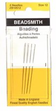 Beadsmith English Beading Needles #12 Needle Pack 4 count - Superior Quality!