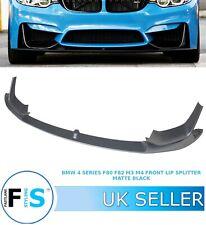 BMW M3 M4 F80 F82 F83 FRONT LIP  SPLITTER SPOILER PERFORMANCE STYLE MATTE BLACK