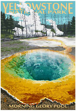Morning Glory Pool - Yellowstone National Park Poster Print, 13x19