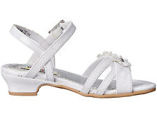Rachel Shoes Toddler Girl's Lil Grace White Patent  Dress Sandals - Size 5/7 NWB