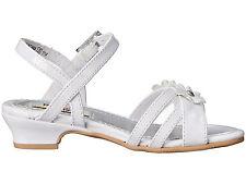 Rachel Shoes Toddler Girl's Lil Grace White Patent  Dress Sandals - Size 5/7 NWB