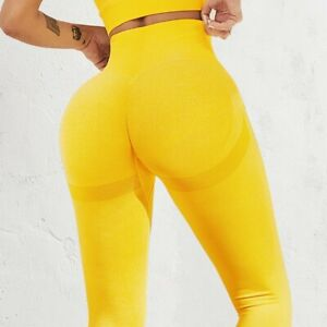 Women Bubble Butt Push Up Fitness Yoga Sports Slim High Waist Leggings