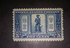 Travelstamps: 1925 Lexington- Concord, mint, og, hinged, 5 cents