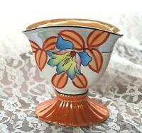 """Beautiful Antique Porcelain Hand Painted Floral Vase Japan 5"""" x 5"""""""