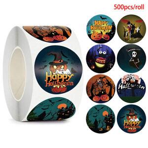 500pc Halloween Skeleton Round Sticker Envelope Sealing Labels Candy Bag Sti.bl