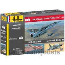 HELLER Maquette DASSAULT AVIATION   Mirage  lot de 3 maquettes  52322