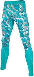 Sub Sports Cold Junior Training Tights Green Thermal Fitted Kids Youths Exercise