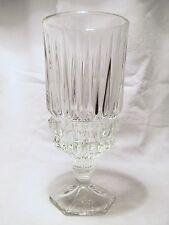 *NEW* Set of 8 vintage FOSTORIA glass CLEAR crystal HERITAGE ice teas