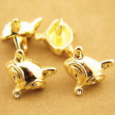 12pcs Gold Novelty Fox Shank Button Metal For Sewing Or Embellishments DIY