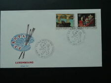 paintings Europa Cept 1975 FDC Luxembourg 62329