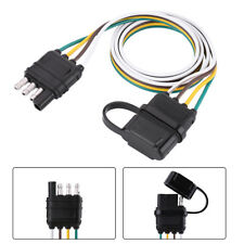 American Trailer Wiring Harness Plug 6V/12V/24V 4 Pin Flat Wire Connector New SE