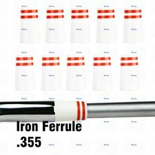 QHALEN Golf Iron Ferrule .355 Taper Tip and Wedge Golf Ferrule Red Trim Rings