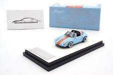 #TP911S-04 - Timothy & Pierre Porsche 911 Targa - Singer - Blau (Gulf) - 1:64