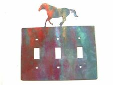 Running Horse Triple Light Cover Plate Steel Images Made Usa 42415d