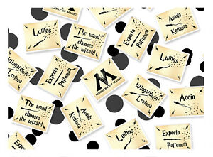 Magical Wizarding Spells Table Confetti - Harry Potter Inspired Party