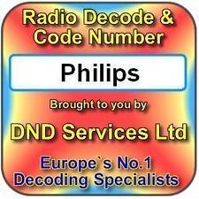 Radio Philips Code Decode Unlock Service par numéro de série