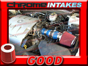 BLUE RED 2004 2005/04 05 CADILLAC DEVILLE ALL MODELS WITH 4.6L V8 AIR INTAKE KIT