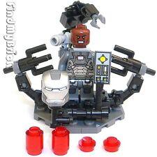 BM114SU Lego Iron Man Suit-Up Gantry & War Machine Suit Rhodey Minifigure NEW