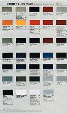2001 FORD TRUCK COLOR CHART Chip Paint Sample Brochure:PICKUP,EXPLORER,RANGER,