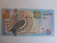 billet de 5 gulden de van suriname état neuf de 01-01-2000