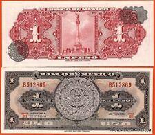 MEXIQUE billet neuf de 1 PESOS Pick59l  calendrier azteque en pierre  1970