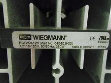 * WIEGMANN FAN MOTOR EGL250-120 (PART No. 04640.900)  ............WG-202