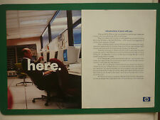 10/2001 PUB 3 PAGES HEWLETT PACKARD HP INFRASTRUCTURE PC COMPUTER ORDINATEUR AD