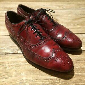 Allen Edmonds McAllister Mens Sz 11.5 Burgundy Leather Oxford Dress Shoe Damaged