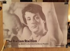 The ITALIAN STALLION  SYLVESTER STALLONE as ROCKY at Denver Theater  Rare POSTER